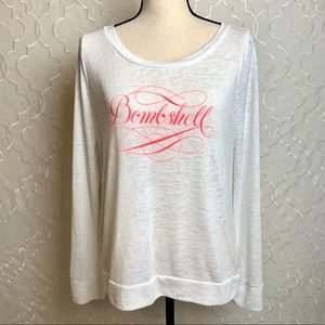 Victoria's Secret | White Bombshell Crew Sweater